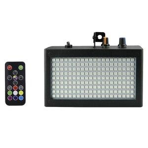 Image 1 - 180 Leds luz estroboscópica Flash portátil 35W Rgb Control remoto de sonido velocidad estroboscópica ajustable para escenario discoteca Bar Party Club (enchufe de la UE