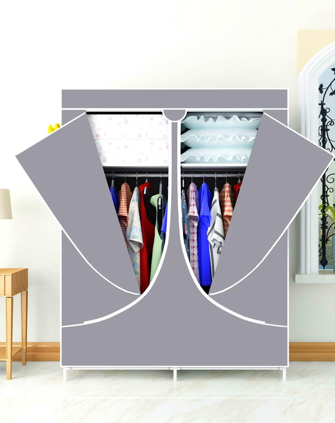 Wardrobe Simplicity Multi-functional Cabinet Double Door Double Household Dustproof Economic Wardrobe Dormitory
