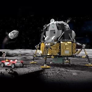 Image 3 - כוכב צעצועי מלחמת תואם עם MOC 26457 אפולו חללית בניין בלוקים לבני צעצועי הרכבה דגם ערכות ילדים חג המולד מתנות