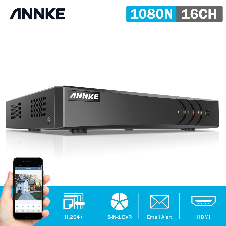 ANNKE 16CH 1080P 5in1 AHD DVR support CVBS TVI AHD Analog IP Cameras HD P2P Cloud H.264 VGA video recorder RS485 Audio