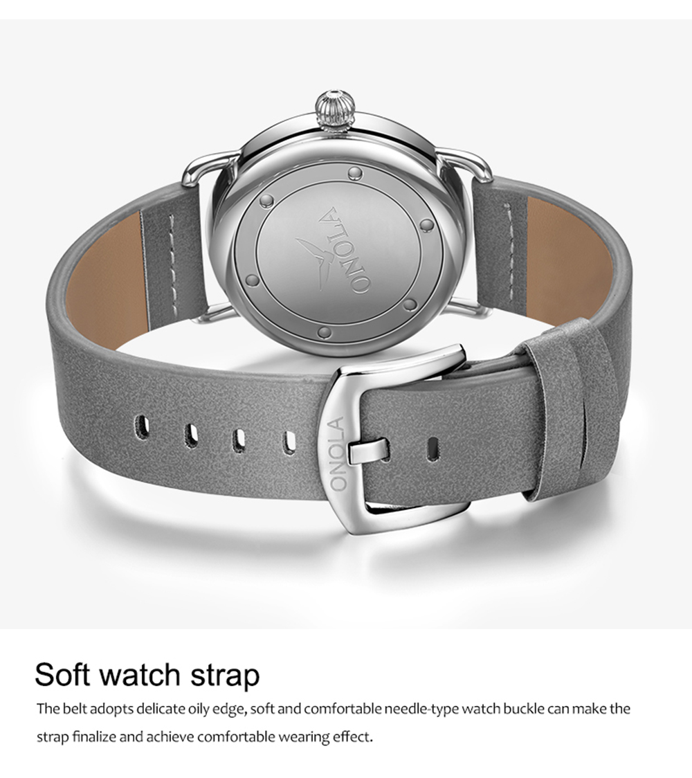 H87a6a0846acc430e8e73fb147c03f64cf ONOLA top brand leather men watches clock fashion sport simple casual waterproof Wrist watch men relogio masculino