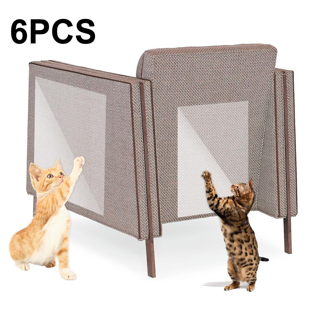 6 pcs//set Pet Training Sofa Protection Practical Cat Scratching Tape Deterrent