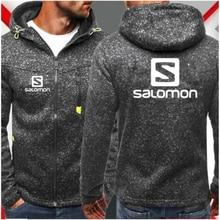 Men Hoodie Jacket Solomon Casual Long Sleeve Mens Hoodies Sweatshirts Slim Zipper Hoody Sweatshirt Men Hooded Coat Streetwear худи print bar узор маори