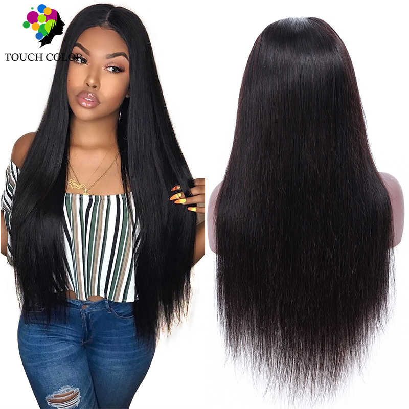 Brazilian Hair 13x4 Straight Lace Frontal Human Hair Wigs Afro Long Straight Swiss Lace Wigs Brown Hair 13x6 Natural Hair Wigs