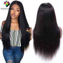 Brazilian Hair 13x4 Straight Lace Frontal Human Wigs Afro Long Swiss Brown 13x6 Natural