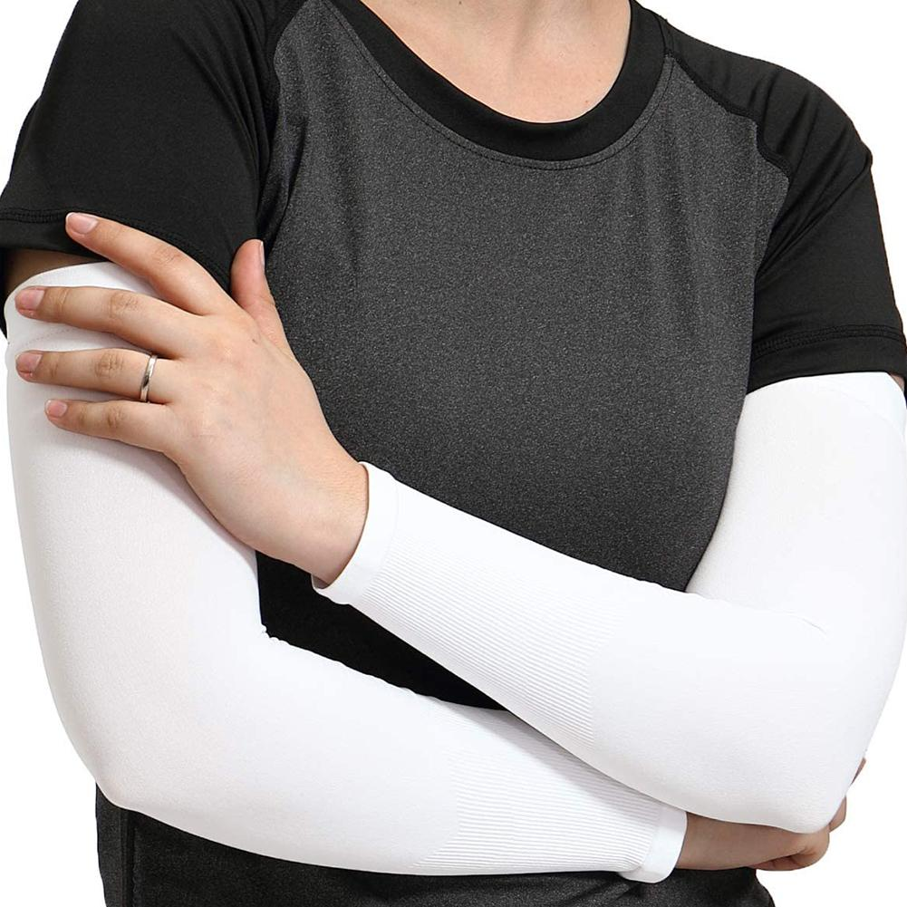 1 Pair Summer Unisex Outdoor Cycling Arm Sleeves Cover UV Sun Protection Oversleeves