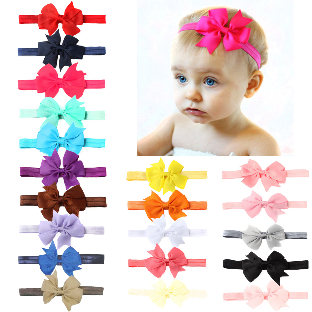 1 PCS Headwrap Girls Bow Knot Hairband Head Band Infant Newborn Toddlers Gift Hair Accessories Clothes Baby Headbands Headwear