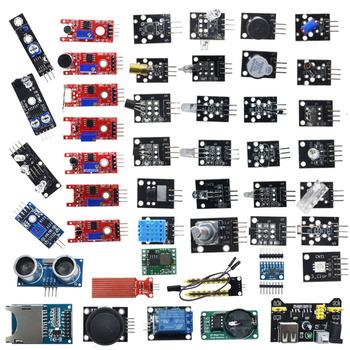 Dla arduino 45 w 1 czujniki moduły zestaw startowy lepiej niż 37in1 zestaw czujników 37 w 1 zestaw czujników UNO R3 MEGA2560 tanie i dobre opinie Nowy electronic module 45 in 1 Sensors Modules