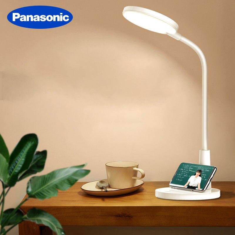 Panasonic-Luz LED giratoria de escritorio para lectura, lámpara de mesa giratoria regulable continua con carga USB, para estudio, estudiantes y oficina, nuevo producto