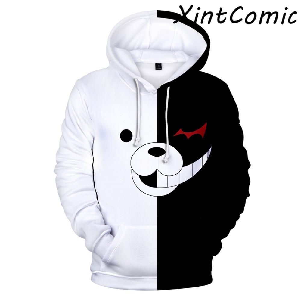 Aikooki Monokuma 3D Hoodies Men Women Sweatshirts Harajuku Hoodie Pullovers Print 3D Monokuma Hoodies Adult