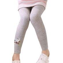Обтягивающие колготки для маленьких девочек; хлопковые чулки с рисунком; эластичные колготки; хлопковые детские чулки с вышивкой; брюки для девочек