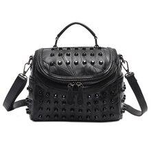цена на Women Leather Bag Sheepskin Messenger Bags Handbags Women Famous Brands Designer Female Handbag Shoulder Bag Sac