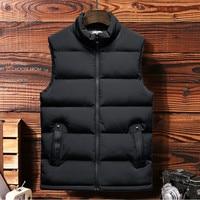 Best Sale Sleeveless Jacket 2019 New Men's Casual Vest Fashion Trend Large Size 7XL Parka Men's Solid Color Wild Men's Clothing