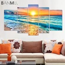 Canvas Paintings Livingroom-Decoration Seascape Beach-Poster Wall-Art Prints Tropical