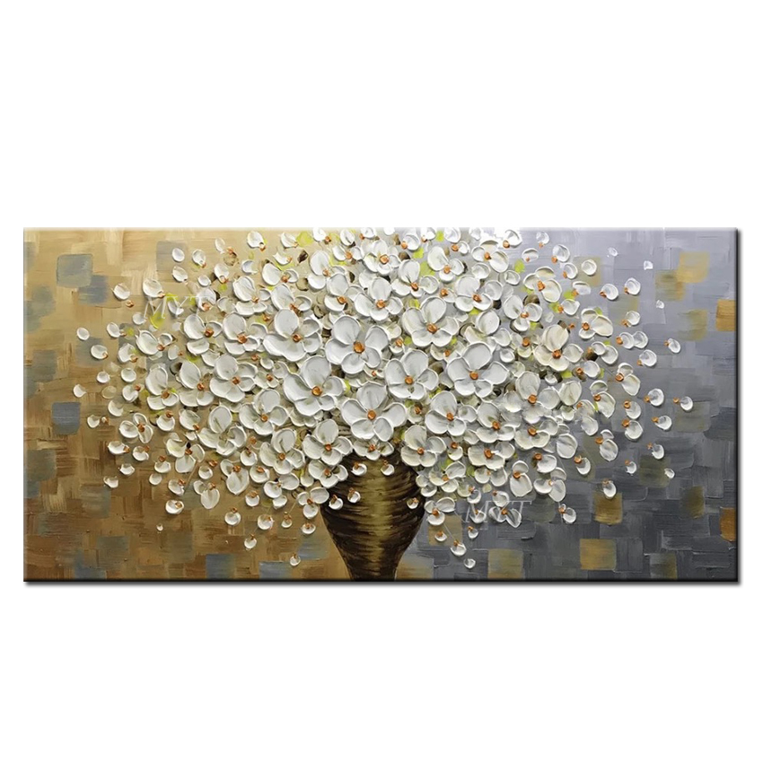 100% Handmade High-quality Home Decor Knife Flower Oil Painting Canvas Art Artwork Living Room Decoration Wall Painting