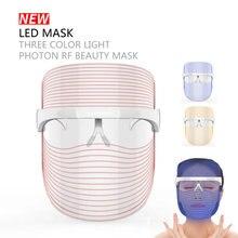 Светодиодная фотонная маска для лица 3 цвета