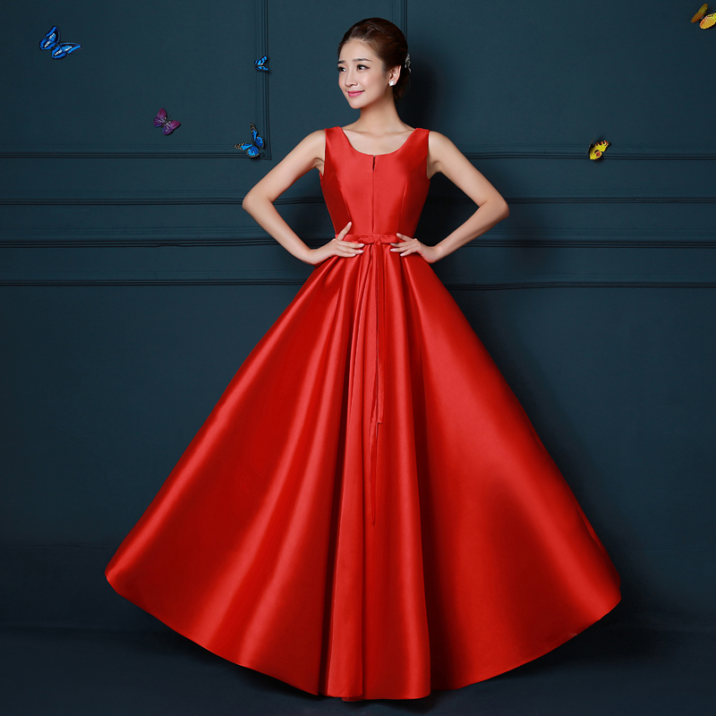Red Long Burgundy Bridesmaid Dresses Elegant Guest Wedding Party Taffeta Sexy Prom New Years Eve Dress Vestidos Dama De Honor