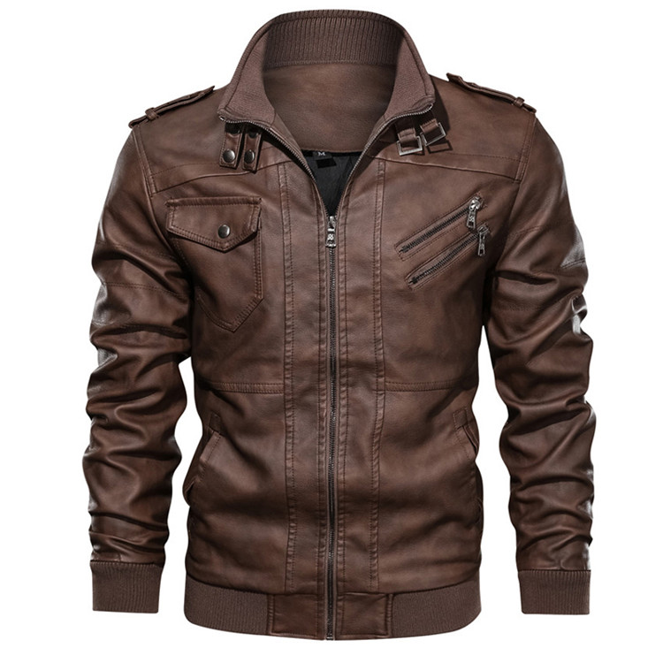 Motorcycle PU Jacket Biker Leather Coats