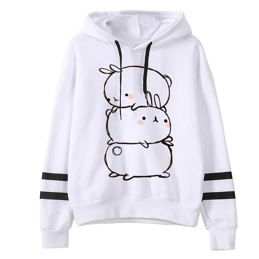 Feitong Hoodies Sweatshirt Women Clothes Letter Printing Stripe Round Collar Long Sleeves Hoodie Tops Streetwear  толстовка