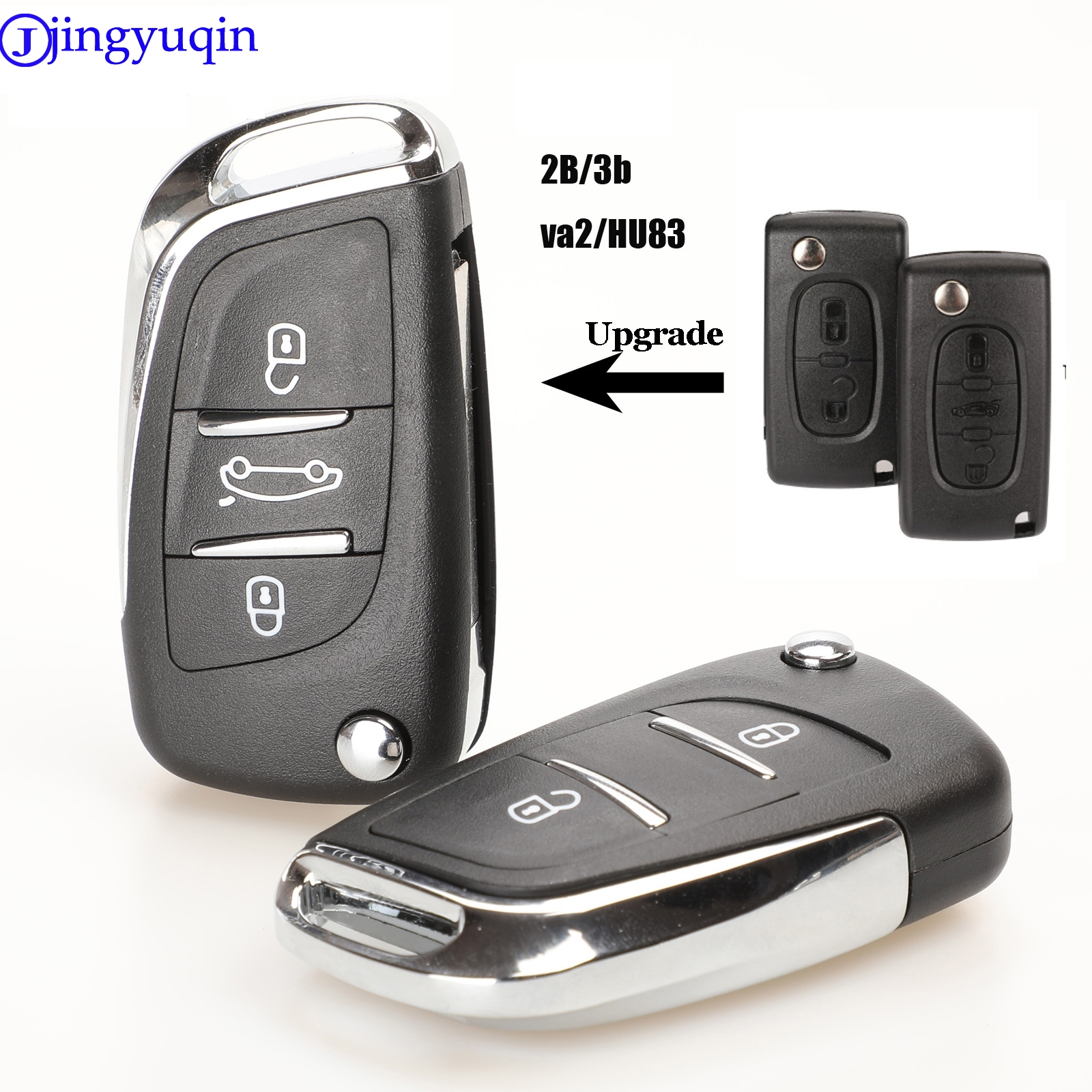 Jingyuqin CE0536 Модифицированная откидная оболочка ключа дистанционного управления для Peugeot 307 408 308 для Citroen C-Triomphe C-Quatre C3 C4L C5