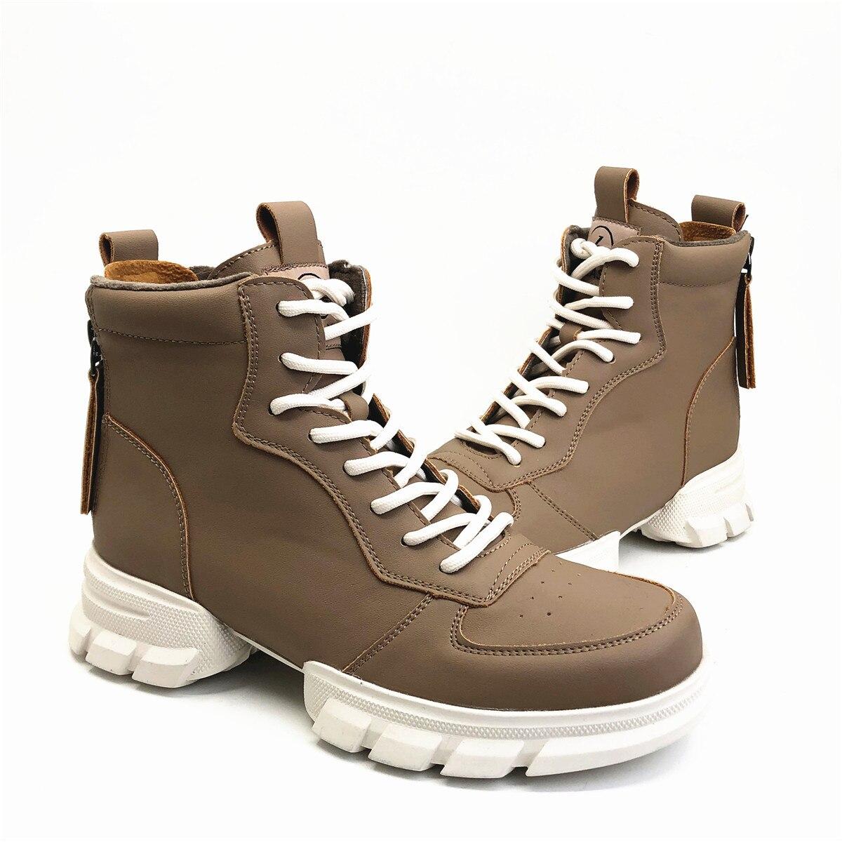 CAILASTE/женские кроссовки; ботинки со шнуровкой на молнии; ботинки шнурки для отдыха; обувь на платформе с бархатной стелькой; спортивные женск... - 3