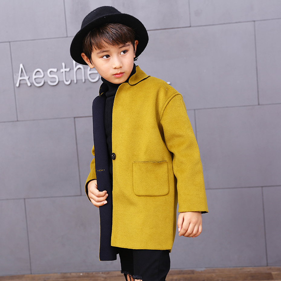 Jacket For Boys Solid Boys Jacket Outerwear Full Length Coat For Kids Spring Autumn Teen Clothing For Girls 8 10 12 14 Years