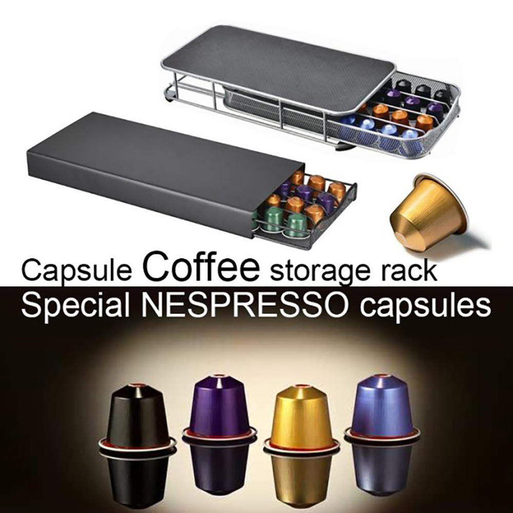 Coffee Pod Capsules Holder Storage Drawer For Dolce Gusto/Nespresso Coffee Podcast Accessories Storage Rack Organizer Cafe Set
