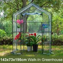PVC DIY Walk-in Greenhouse Plant Cover Home Outdoor Flower Plant Gardening Water