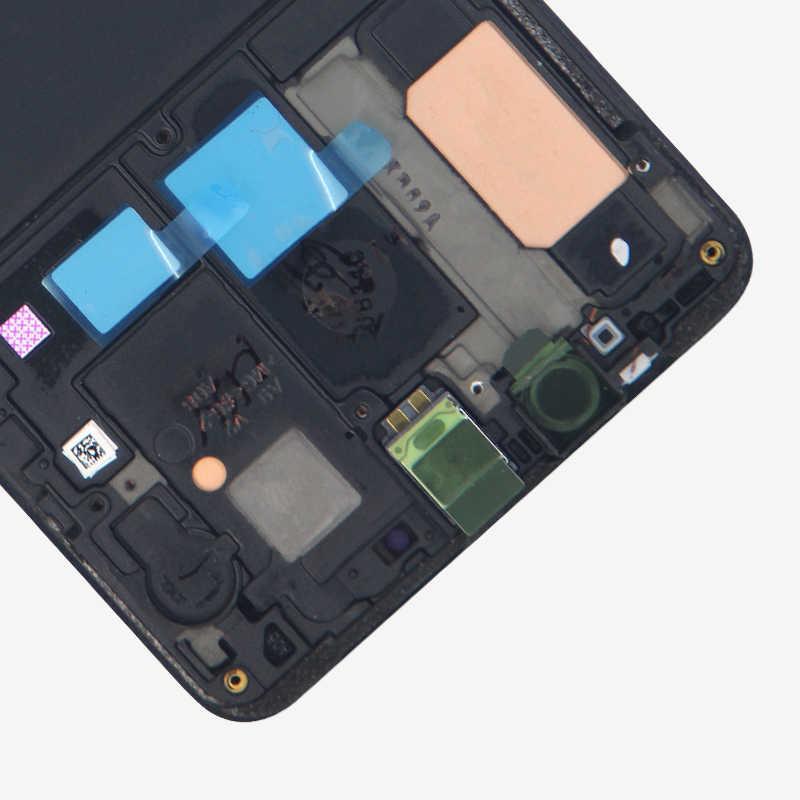 الأصلي A920 سوبر AMOLED لسامسونج غالاكسي A9 2018 LCD A920 عرض محول الأرقام بشاشة تعمل بلمس ل A9S A9 ستار برو SM-A920F LCD