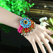 Flower bracelet ethnic style original hand made  jewelry