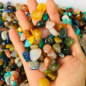 100g tumbled gemstone mixed stones natural rainbow   colorful rock mineral agate for chakra healing цена 2017