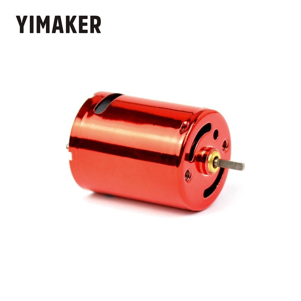 Motor de corriente continua de alta velocidad para bomba de agua de 7,4 V y 50000rpm de 370 rpm de YIMAKER, 11,1 V, 75000rpm