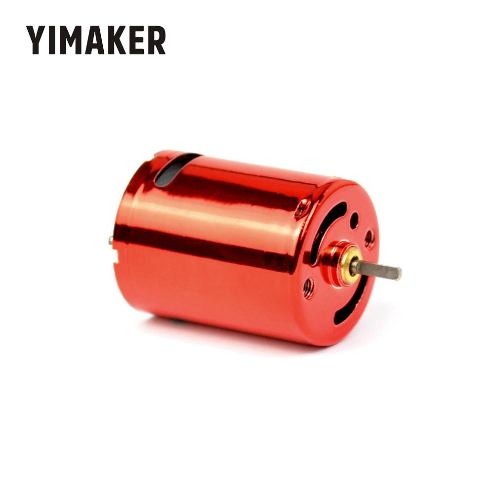 YIMAKER 7.4V 50000rpm Factory Direct Red Magic 370 DC Motor For Water Bomb 11.1V 75000rpm High-Speed DC Motor High Torque