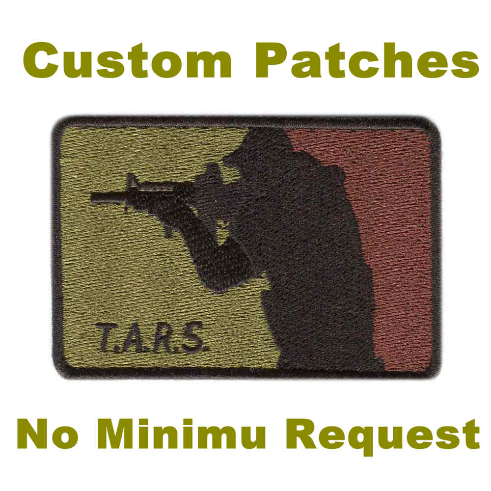 Custom Airsoft Patches No Minimum Embroidery Patches For Garment