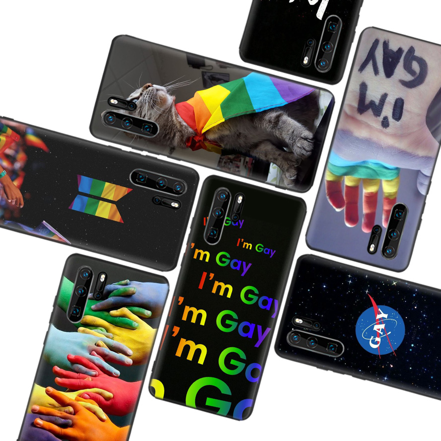 LGBT Rainbow Flag Pride Black Soft Case For Huawei P30 P20 P10 Lite Pro P Smart Z 2019 Mate 30 10 20 Lite Phone Case Cover