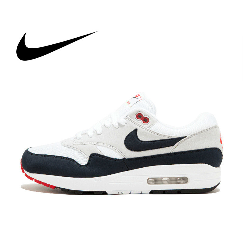 Original Authentic Nike AIR MAX 1 ANNIVERSARY Men's Running Shoes Sports Outdoor Sneakers Shock Absorbing Lightweight 908375-104