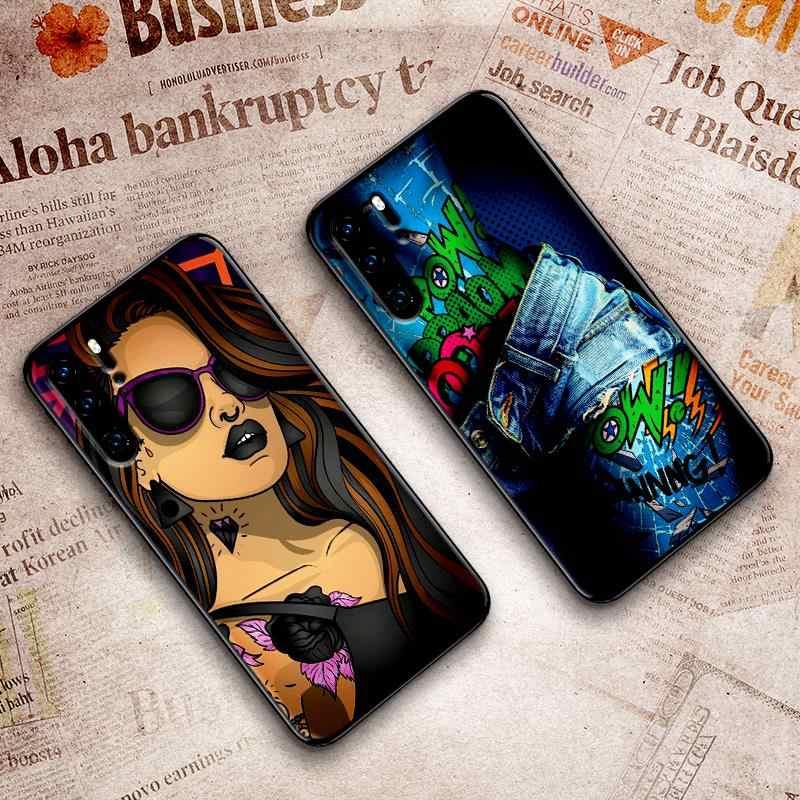 Pour Huawei P8 P9 Mini P10 P20 2019 P30 LITE pour Huawei P Smart Z 2018 P20 Pro coque de téléphone coque filles Pop art
