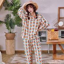 Caiyier Платья с цветочным принтом; Хлопковые пижамы рисунками