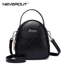 NEVEROUT Women High Quality Leather Shoulder Sac Solid Zipper Mini Messenger Bags Small Phone Top-Handle Crossbody Handbag