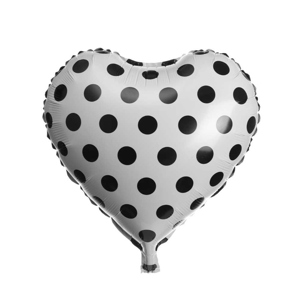 1pc 18inch Fashion Zwart Wit Gestreepte Golf punt Folie Ballon Wedding Party Verjaardag Party Supply Baby Shower Decoratie