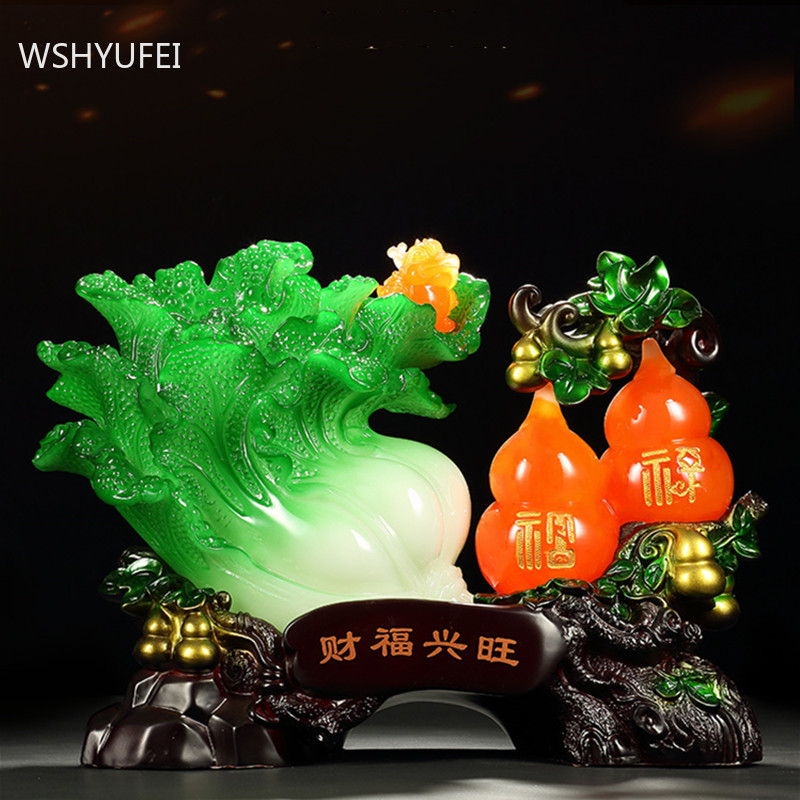 Feng Shui Resin Home Auspicious Ornaments Office Desktop Plant Sculpture Decoration Study Living Room Bogu Frame Decor Crafts