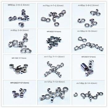 Metal Seal Miniature bearing Multiple sizes 10piece free shipping Bearing MR63 MR74 MR85 MR95-105-106-115-117-126-128-137-148