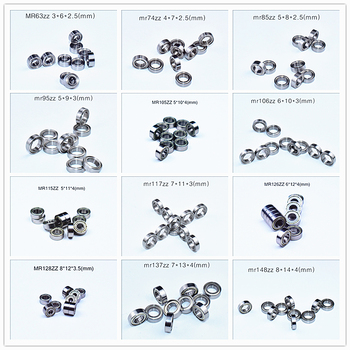 Metalowa uszczelka mini łożysko wiele rozmiarów 10 sztuk darmowa wysyłka łożyska MR63 MR74 MR85 MR95-105-106-115-117-126-128-137-148 tanie i dobre opinie Afortunado Miniature Bearing Steel