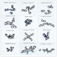 Rodamiento en miniatura con sello de Metal, rodamiento de 10 unidades, envío gratis, MR63 MR74 MR85 MR95 105 106 115 117 126 128 137 148