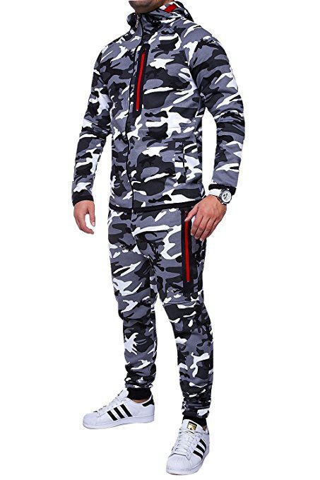 2020 New Men's Outdoor Camouflage Sweatshirt Sublimation Camouflage Clothing Autumn And Winter Men's Suit Camouflage Sets