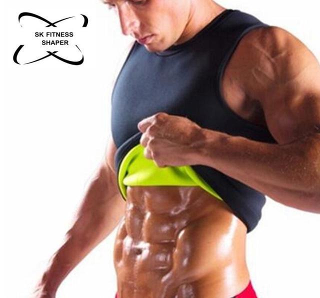 Slimming Belt Belly Men Slimming Vest Body Shaper Neoprene Abdomen Fat Burning Shaperwear Waist Sweat Corset 5