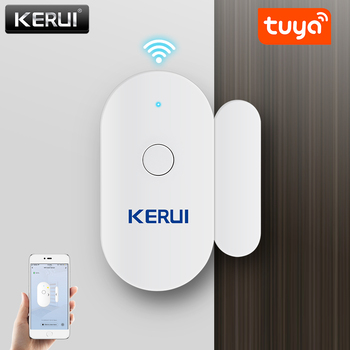 KERUI Tuya Smart Home WiFi Door Sensor Alarm Window Open Closed Detectors Magnetic Switch APP Alert Car Garden Security System wireless door window sensor detector magnetic switch normally closed for our home security alarm system