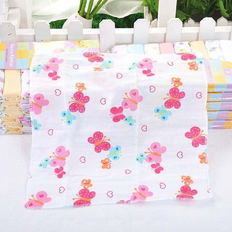 8pcs / lot 100% Cotton Newborn Baby Towel Saliva Towel Nursing Handuk - Penjagaan bayi - Foto 4