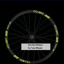 Autocollant à deux roues pour DT Swisss VTT jante de vélo réfléchissant vtt course de cyclisme