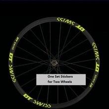 Two Wheel Sticker Set for DT Swisss Mountain Bike Bicycle Rim Reflective MTB Cylcing Race